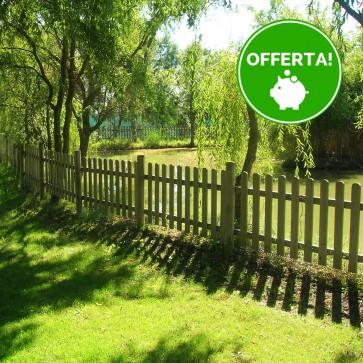 Onlywood Steccato NICE Legno PINO IMPREGNATO cm 180 x 100 altezza