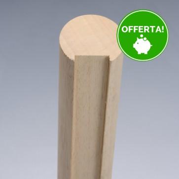 Corrimano Legno TONDO Ayous diametro 47 x 300 cm Grezzo