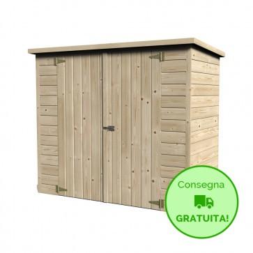 Casetta- ripostiglio in legno BIKE BOX 182 x 88 cm