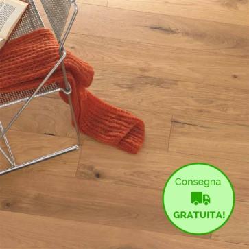 Parquet Prefinito ROVERE NATURALE scelta BCD 10x150x1250 mm - serie Canarie Small