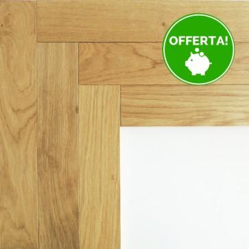 Parquet Prefinito SPINA ITALIANA - ROVERE NATURALE Sp.10 mm verniciato spazzolato