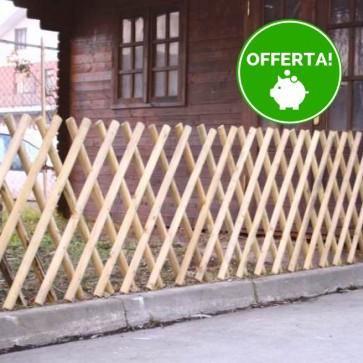 Steccato ESTENSIBILE in Legno trattato in  Autoclave- Altezza 80 x 225 cm.