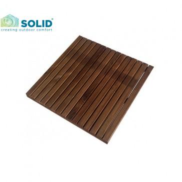 Mattonella - pavimento da esterno BARCELONA in pino impregnato NOCE 50x50 cm