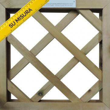 GRIGLIATI SU MISURA in legno trattato- maglia 12 cm