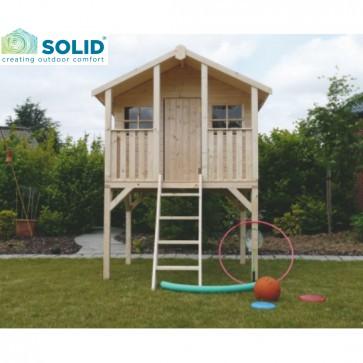 Casetta in legno per bambini TRADITIONAL con pavimento 180 x 190 x 281 cm
