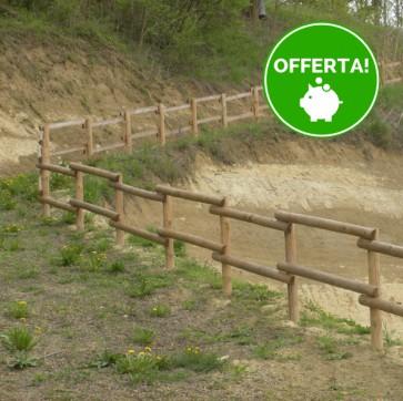 Kit completo 6 metri di Staccionata LEGNO CLASSE4 Valdostana
