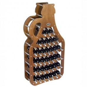 """Cantinetta in legno noce in kit """"Fiasco"""" - 36 bottiglie"""