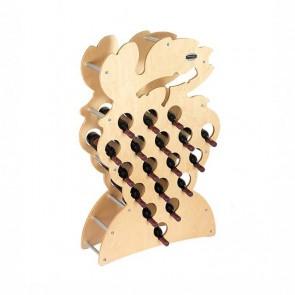 """Cantinetta in legno acero in kit """"Grappolo"""" - 18 bottiglie"""