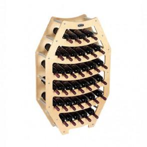 """Cantinetta in legno acero in kit """"Ottagono"""" - 36 bottiglie"""