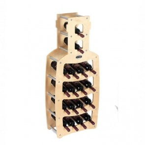 "Cantinetta in legno acero in kit ""Bottiglia"" - 18 bottiglie"