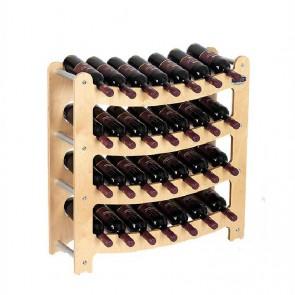 """Cantinetta in legno acero in kit """"Syrah"""" - componibile - 28 bottiglie"""