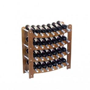 """Cantinetta in legno noce in kit """"Syrah"""" - componibile - 28 bottiglie"""