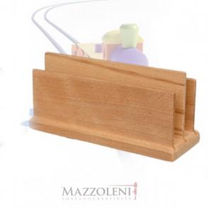 Porta documenti doppio in legno cm. 18 x 7 x 8