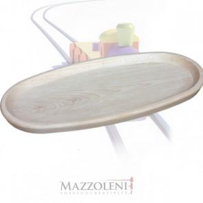 Vassoio di legno ovale grande cm. 42 x 22 x 2