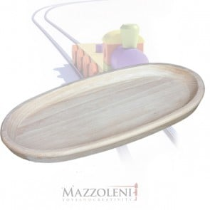 Vassoio di legno ovale medio cm. 35 x 19 x 2