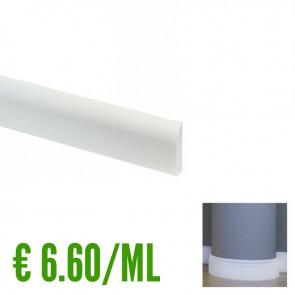 BATTISCOPA BIANCO FLESSIBILE in Pvc 10 x 44 mm - Asta da 2,4 Metri Lineari