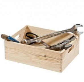 Scatola porta oggetti in legno di conifera - 40x30x14 cm