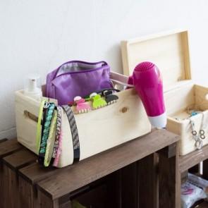Scatola in legno porta oggetti - 30x20x15 cm