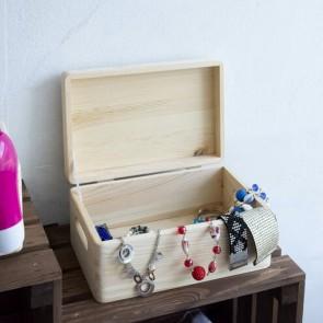 Scatola in legno porta oggetti con coperchio - 40x30x23 cm