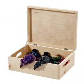 Scatola in legno porta oggetti con coperchio - 40x30x14 cm