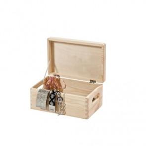 Scatola in legno porta oggetti con coperchio - 30x20x14 cm