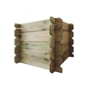 Fioriera FACILE in legno 50x50x30 h pino impregnato