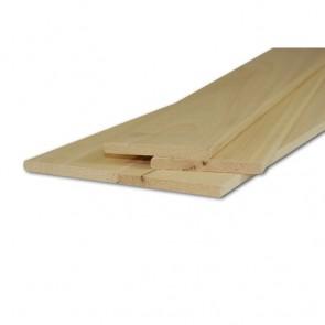 Listelli Piallati in legno Ayous SAMBA 10 X 100 X 2500 mm - Confezione 10 PEZZI
