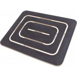 Pedana doccia in compensato marino antiscivolo 54x68 cm con piatto 70x90
