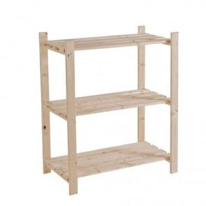 Scaffale legno grezzo fai da te - 3 ripiani - 80 x 40 x 95h cm