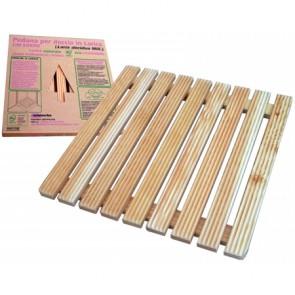 Pedana larice ecosostenibile certificata 50x50 per piatti doccia 70x70 cm
