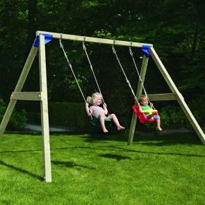 Altalena Struttura in legno impregnato BLUE RABBIT per bambini