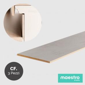 ALZATE LIGHT GREY STONE Rivestimento per Scale Faidate - Confezione 3 Pezzi