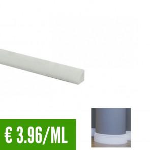 BATTISCOPA BIANCO FLESSIBILE in Pvc 15 x 15 mm asta 2,40 m