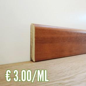 BATTISCOPA IROKO in Legno impiallacciato 80x13 mm - Asta 2,50 metri