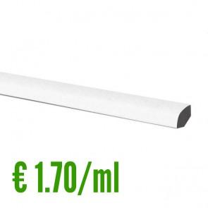 24 ML Battiscopa 100% IMPERMEABILE Bianco PVC 14x14 mm con passafili - CONFEZIONE RISPARMIO