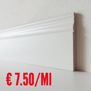 Battiscopa legno BIANCO mod Ducale - 120 x 13 mm - Asta 250 cm
