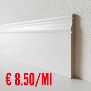 Battiscopa legno BIANCO mod Ducale - 140 x 13 mm - Asta 250 cm