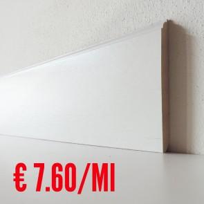 Battiscopa legno BIANCO mod Enea - 120 x 13 mm - Asta 250 cm