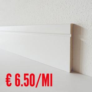 Battiscopa legno BIANCO mod Inciso - 100 x 13 mm - Asta 250 cm