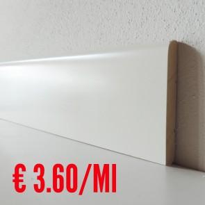 Battiscopa legno BIANCO mod Liscio - 80 x 10 mm - Asta 250 cm