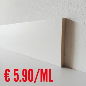 Battiscopa legno BIANCO  mod Liscio - 100 x 13 mm - Asta 250 cm