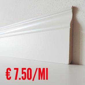Battiscopa legno BIANCO mod Luxor - 120 x 13 mm - Asta 250 cm