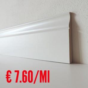 Battiscopa legno BIANCO mod Reale - 120 x 13 mm - Asta 250 cm