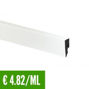 24 ML Battiscopa 100% IMPERMEABILE Bianco PVC 15x38.5 mm con passafili -Posa Clip CH23 - CONFEZIONE RISPARMIO