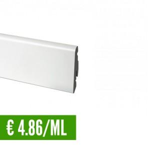 24 ML Battiscopa 100% IMPERMEABILE Bianco PVC 58 x 14 mm con passafili - CONFEZIONE RISPARMIO