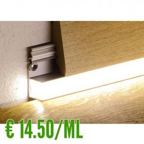 24 ML Profilo Battiscopa per Led in Alluminio - CONFEZIONE RISPARMIO