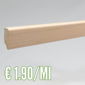 Battiscopa legno impiallacciato  ROVERE 19x60 mm. asta 2,40 metri