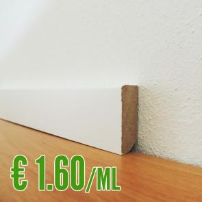 BATTISCOPA BIANCO MDF liscio 14 x 40 mm. asta 2,40 metri