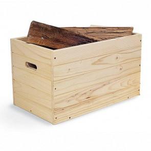 Baule in legno massiccio grezzo in kit con coperchio - 100 x 40 x 40 cm