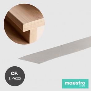 BORDO DI FINITURA LIGHT GREY STONE Rivestimento per Scale Faidate - Confezione 2 Pezzi